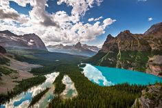 The View from Above - Mary Lake and Lake O'Hara as seen from the Opabin Prospect.