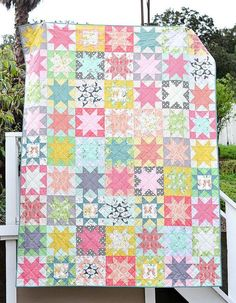 Winged Twin Star quilt | Kitchen Table Quilting