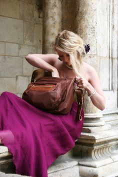 Brown Leather Messenger Bag Womens Magpie by MagpieAccessoriesUK, $379.00