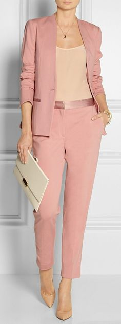 Malene Birger pale pink pantsuit | Skirt the Ceiling | skirttheceiling.com