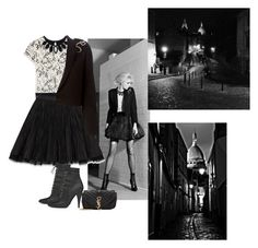 """""""Saint Laurent Paris By Night"""" by katiethomas-2 ❤ liked on Polyvore featuring Yves Saint Laurent"""