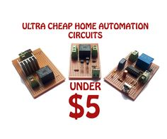 Home automation under $5Home automation means you can control home applies more easily. You can control your fan lights exits' with tip of your finger or allow them to work automaticallyThe project contains three different switching circuits1. IR remote controlled switch 2. Automatic water level controller3. Automatic night light