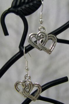 Doctor Who Two Hearts Fish Hook Earrings by BadWolfStudio on Etsy, $8.99