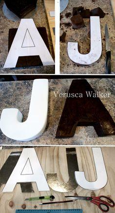 Letters Cake by Verusca.deviantart.com on @deviantART