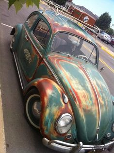 Vintage Vw Accessories added a new photo. Vw Bugs, Beetle Bug, Vw Beetles, Carros Vw, Vw Accessories, Van Vw, Kdf Wagen, Patina Paint, Rat Look