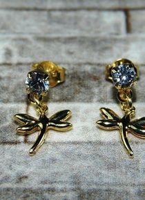Aros con dos libelulas Brooch, Jewelry, Fashion, Gold, Jewelery, Brooch Pin, Jewellery Making, Moda, Jewels