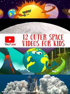12 Outer Space Videos for Kids Space Videos For Kids, Space Activities For Kids, Space Preschool, Science Activities, Science Education, Solar System Activities, Physical Education, Kids Education, Outer Space Crafts For Kids