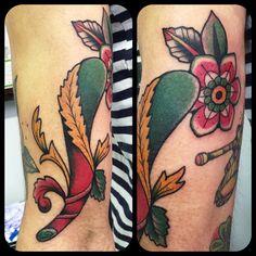 Tattoo tatuaggio asso bastoni