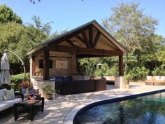 Swimming Pool Cabana Ideas backyard pool cabana This Outdoor Living Space A Freestanding Covered Patio Or Cabana Is Outdoor Homescapes