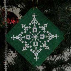 Snowflake, Cross Stitch Christmas Tree Ornament