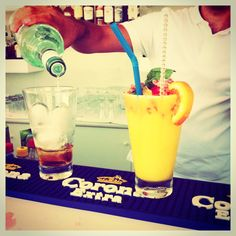 """#Weekend preparations! """"Mango Dream"""" or """"Pineapple Sunrise"""" smoothie cocktail? Our talented bartender will cater to every desired taste! - at Astro Palace Hotel & Suites"""