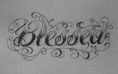 Blessed tattoo design
