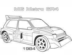 1984 MG Metro coloring page from Cars category. Select from 31983 printable crafts of cartoons, nature, animals, Bible and many more. Cars Coloring Pages, Free Coloring, Coloring Pages For Kids, Coloring Sheets, Coloring Books, Printable Crafts, Printables, Elderly Activities, Lancia Delta