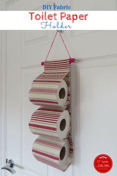 DIY Fabric Toilet Paper Holder - ET Speaks From Home