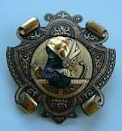 1940's Damascene Averros brooch