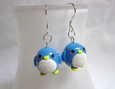 Penguin Kawaii Cute Polymer Clay Earrings. $10.00, via Etsy.