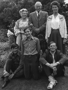 Eileen & David Caddy with their children, and Dorothy MacClean