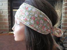 Boho Coral Flower headband by myfashioncreations, $11.99
