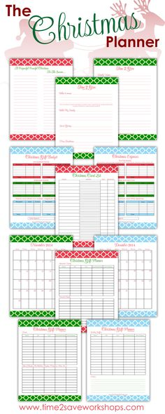 "NEWLY updated! FREE printable Christmas planner. Don't be stressed out this holiday season. Get a head start and plan ahead to create a ""Purposeful Peaceful Christmas"" for you family. #christmas #DIY"