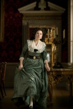 Michael O'Connor's beautiful Oscar winning creations for the 2008 film The Duchess have gone on to be used in several other productions over the past few years.  This green gown, worn on Hayley Atwell as Bess Foster in The Duchess