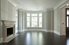 Crown Molding and baseboards <3 | PLD Custom Home Builders