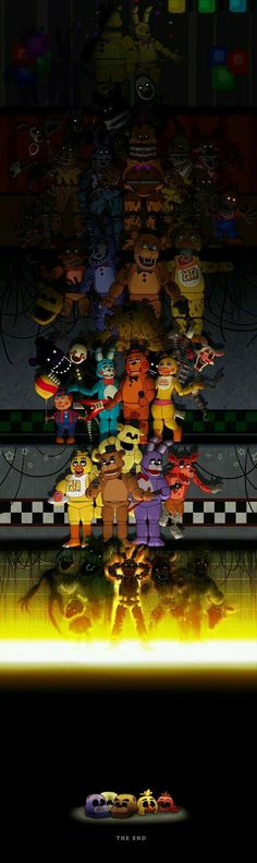 Five Nights at Freddy's by DoodleDox on DeviantArt<<<so happy that they included the new Halloween animatronics! This is the most amazing FNaF Fanart that has nothing to do with FNaF ships! Five Nights At Freddy's, Creepypasta, Fan Art, Halloween Animatronics, Fnaf Characters, Story Characters, Fnaf Sl, Freddy 's, Fnaf Sister Location