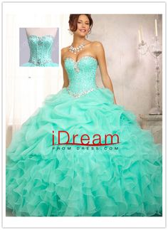 Sweetheart  Jewel  Beaded  Bodice  Bubble  And  Ruffled  Skirt Ball  Gown