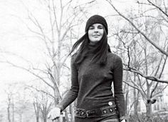 Ali McGraw  in her classic wool hat