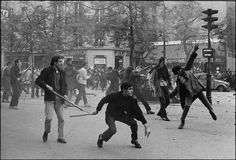 Paris Riots. May 6th, 1968. Bruno Barbey / Magnum Photos