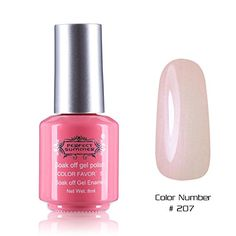 Perfect Summer Quick Drying 8ml Sweet Pink Bottle Colors Long Wearing UV Led Soak Off Gel Polish French Nails Lacquers for Teens Girls 207 nude pink -- Click image for more details.(It is Amazon affiliate link) #white