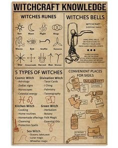 Witchcraft Knowledge Poster Witches Rune Poster shirts, apparel, posters are available at TeeChip. Witch Spell Book, Witchcraft Spell Books, Magick Spells, Green Witchcraft, Pagan Witchcraft, Wiccan Magic, Wiccan Witch, White Magic Spells, Witchcraft Spells For Beginners