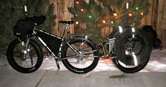Expedition electric fat bike + single wheel trailer + spare tires + packs…