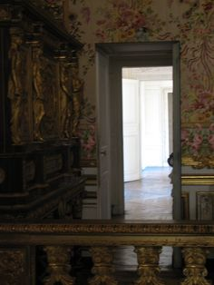 The hidden door beside her bed, which Marie Antoinette used to make her escape from the mob in October 1789.