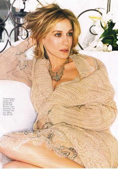 Cozy!!  Hello, Gorgeous! See Sarah Jessica Parker's Most Stunning Editorials Elle, September 2002.
