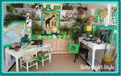 The Animal Adventure Collection - Schoolgirl style - classroom ideas, but could easily translate to a bedroom!!
