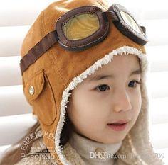Shop Caps & Hats Online, High Quality Fashion Stylenew Cute Baby Toddler Boy Girl Kids Pilot Aviator Cap Warm Hats Earflap Beanie Ear Muff Cap Air Force Cap Warm With As Cheap As $2.81 Piece   Dhgate.Com