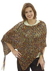 Ravelry: Ribbon Poncho (knit) pattern by Lion Brand Yarn
