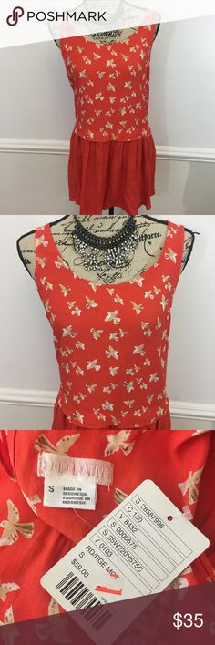 NWT Cooperative Urban Outfitters Orange Bird Dress NWT Cooperative Urban Outfitters Orange Sleeveless bird Dress. Size Small. Originally $59. Urban Outfitters Dresses