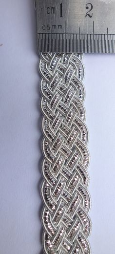 Silver Handmade Trim triple Celtic Pattern by ColourCocoon on Etsy, $7.00