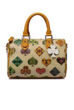 One of the CUTEST new handbags we just got in. Happy Go Lucky Suit Monogram Satchel Handbag  $64.99