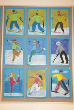 5th grade. Winter Activity Figure Drawing and Movement