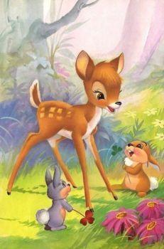 Pin by christine stolls on bambi Disney Pixar, Walt Disney, Disney Cartoons, Disney Art, Disney Illustration, Cute Animal Illustration, Cute Bunny Cartoon, Cute Cartoon Animals, Mickey Mouse Pictures