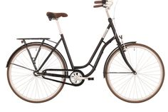 Lækker 3 gears damecykel i aluminium fra danske Ebsen. Kommer udstyret med indfarvet kædeskærm, skærme og bagagebærer.