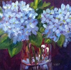 DPW Fine Art Friendly Auctions - Hydrangea Blooms by Libby Anderson