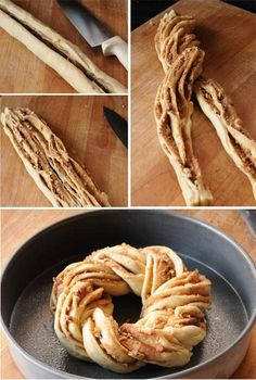 Twisted Cinnamon pecan breakfast bread