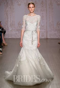 Monique Lhuillier Wedding Dresses Fall 2015 Bridal Runway Shows Brides.com | Wedding Dresses Style | Brides.com