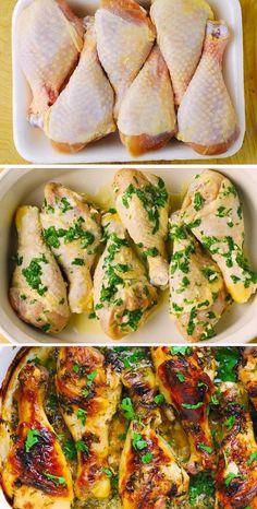 Turkey Recipes, Meat Recipes, Chicken Recipes, Dinner Recipes, Cooking Recipes, Healthy Recipes, Recipies, Roasted Chicken, Baked Chicken