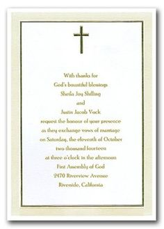 11 best christian wedding invitation wording images on pinterest christian wedding invitations wording filmwisefo