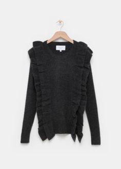 Costesfashion - Ruffle Knit Pull=