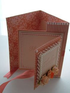 Fold Out Card, Melon Berry